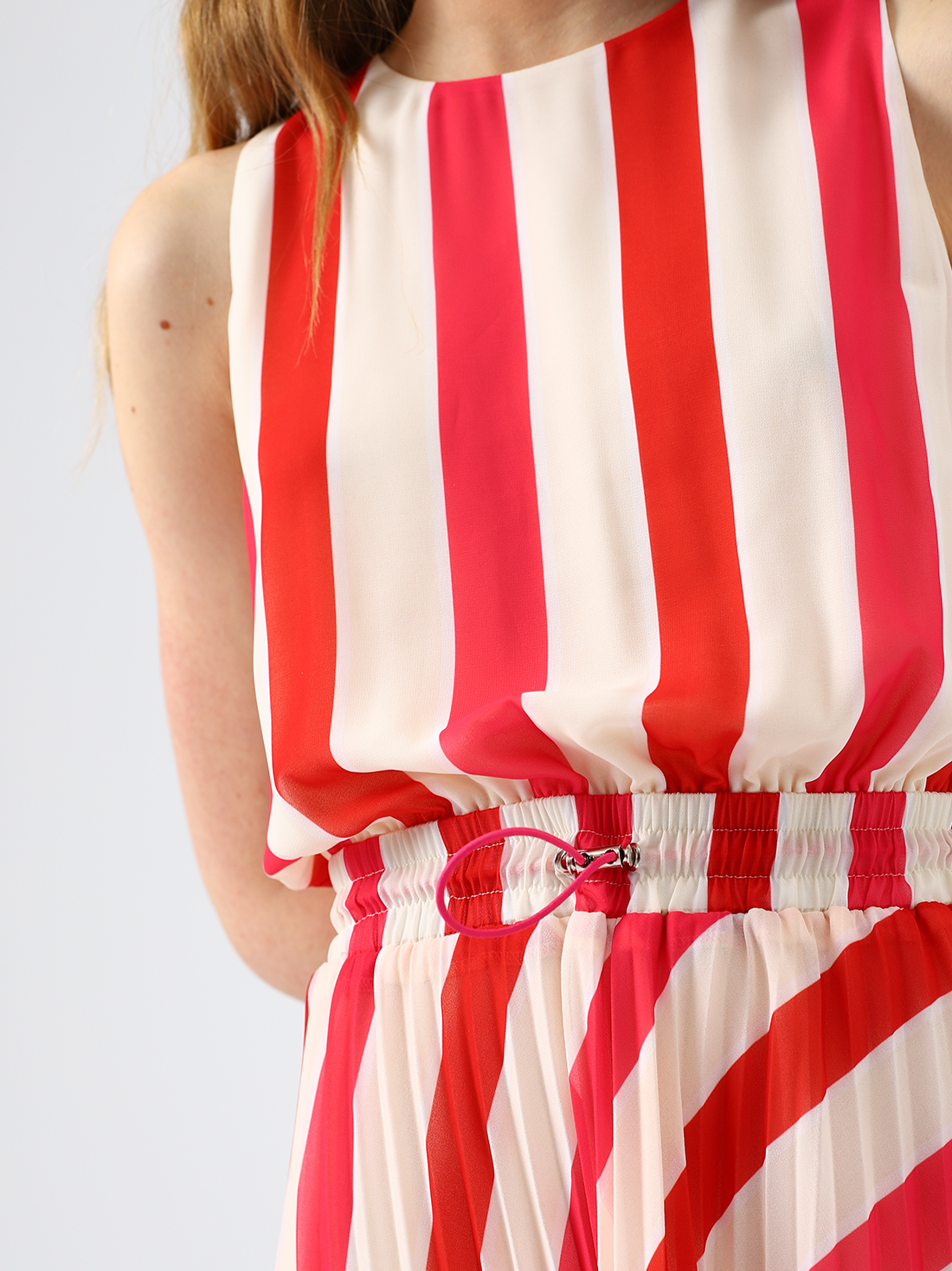 Платье-миди в полоску