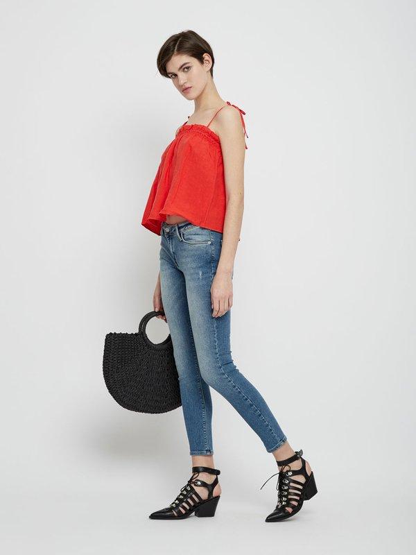 Укороченные джинсы цвет: голубой