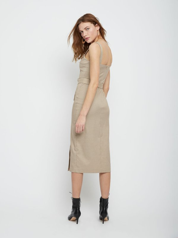 Платье-миди на широких бретелях вид сзади