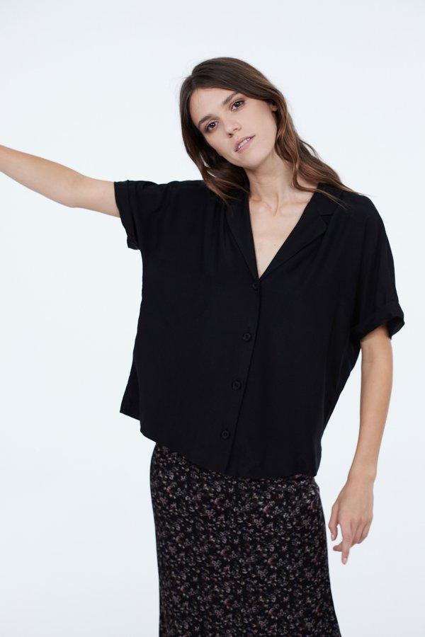 Рубашка силуэта оверсайз цвет: черный