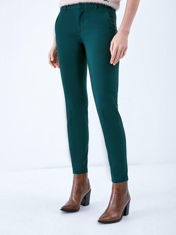Классические брюки со стрелками цвет: темно-зеленый