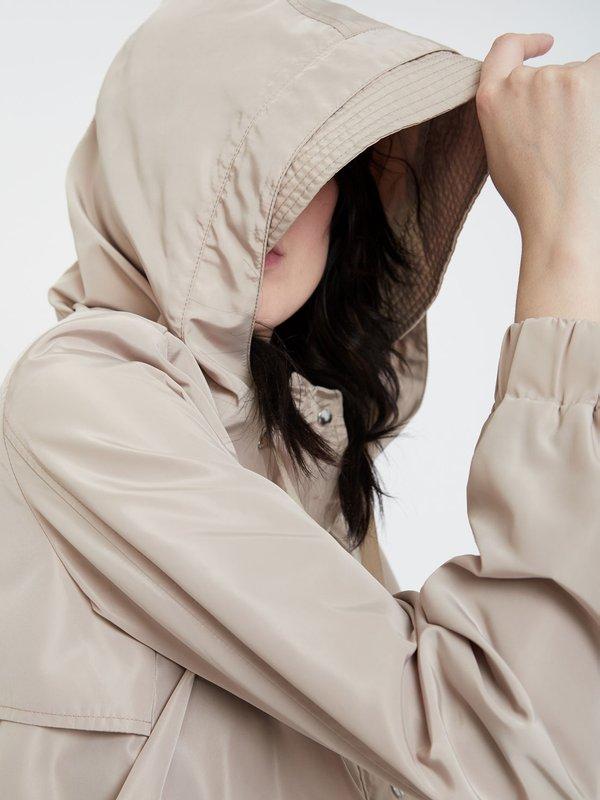 Куртка с капюшоном цвет: пудра