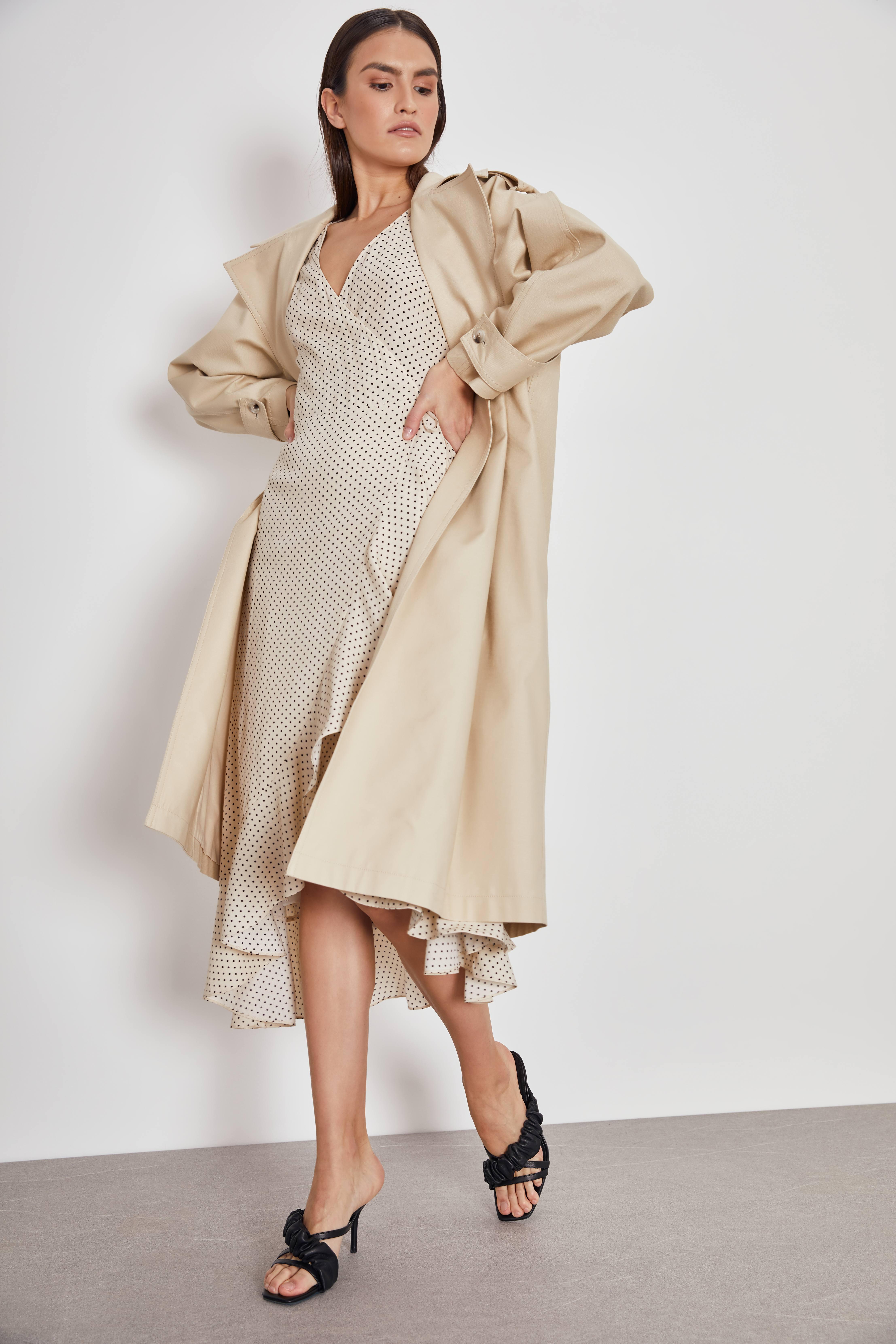 Платье LIME Платье с асимметричным низом и воланами acne studios рубашка с асимметричным низом