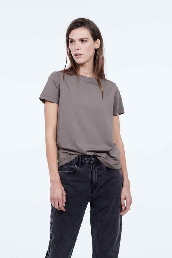 Классическая футболка цвет: хаки