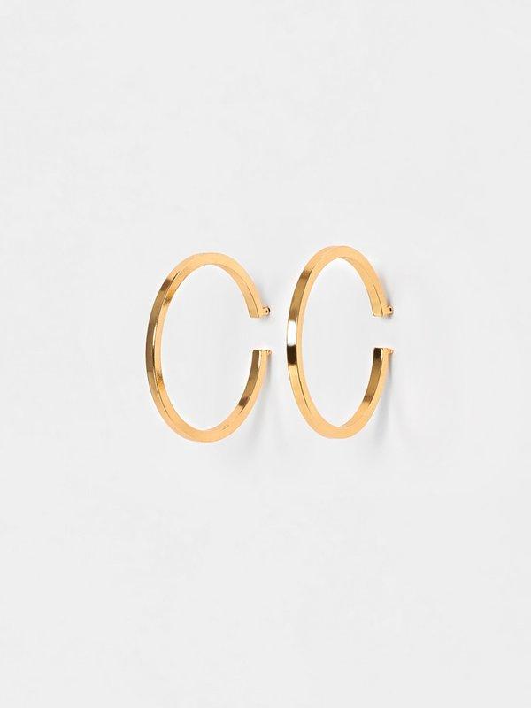 Серьги-кольца вид сзади