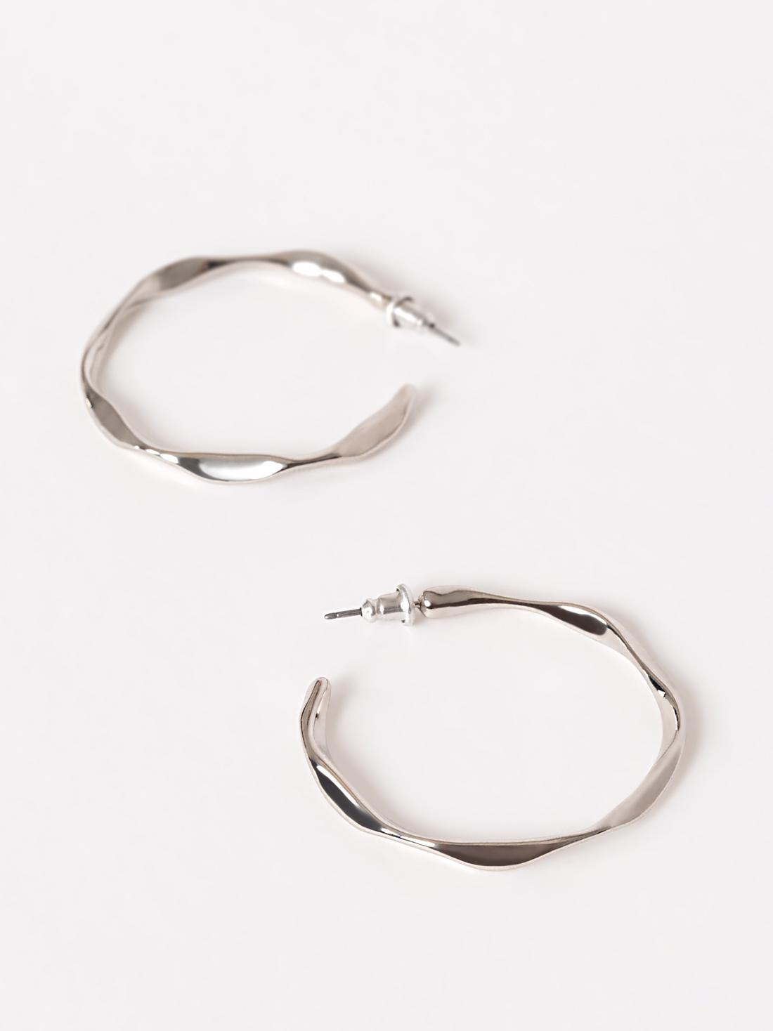 Кольца-серьги с текстурным узором