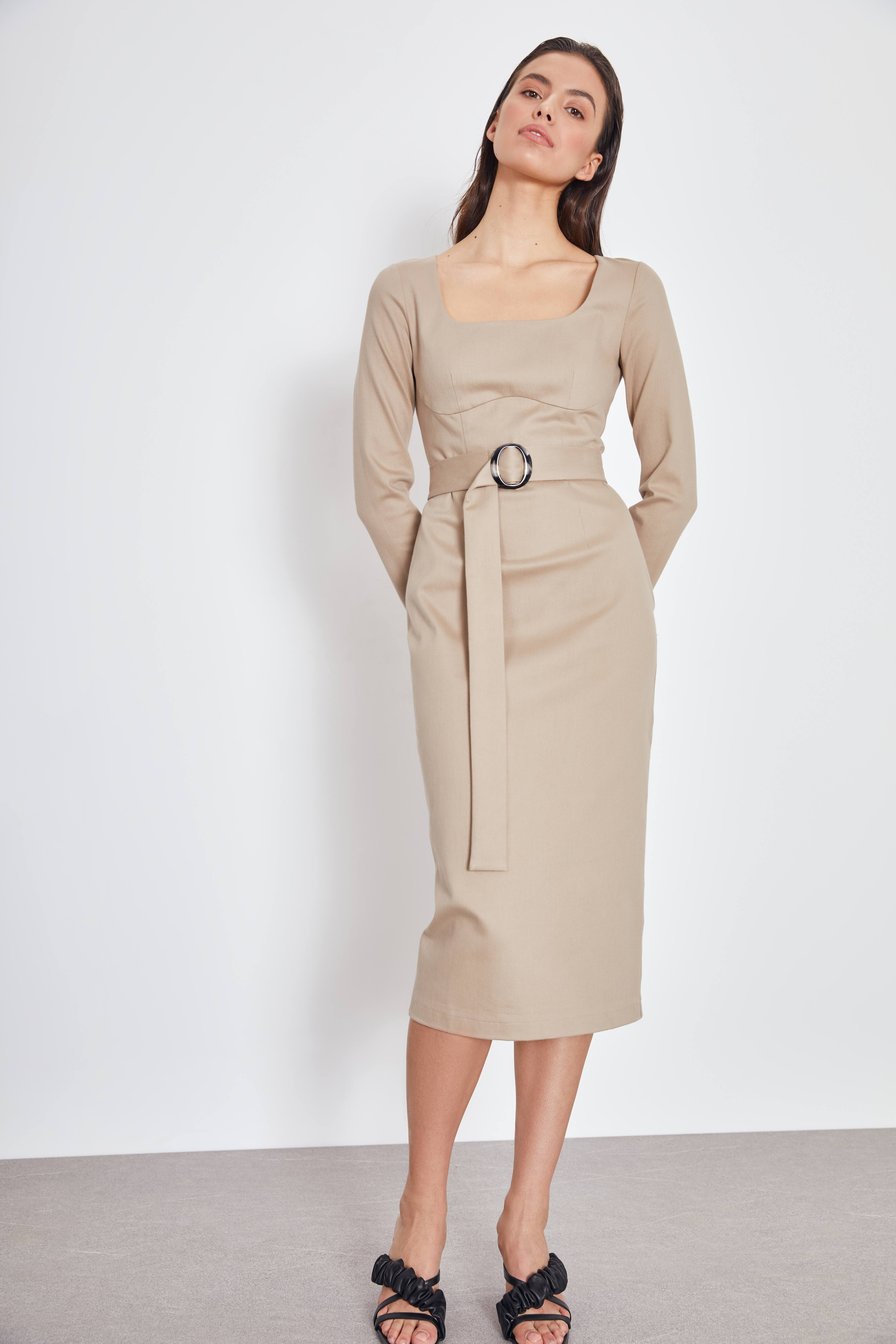 Платье LIME Платье с поясом платье viserdi viserdi mp002xw1hnz2