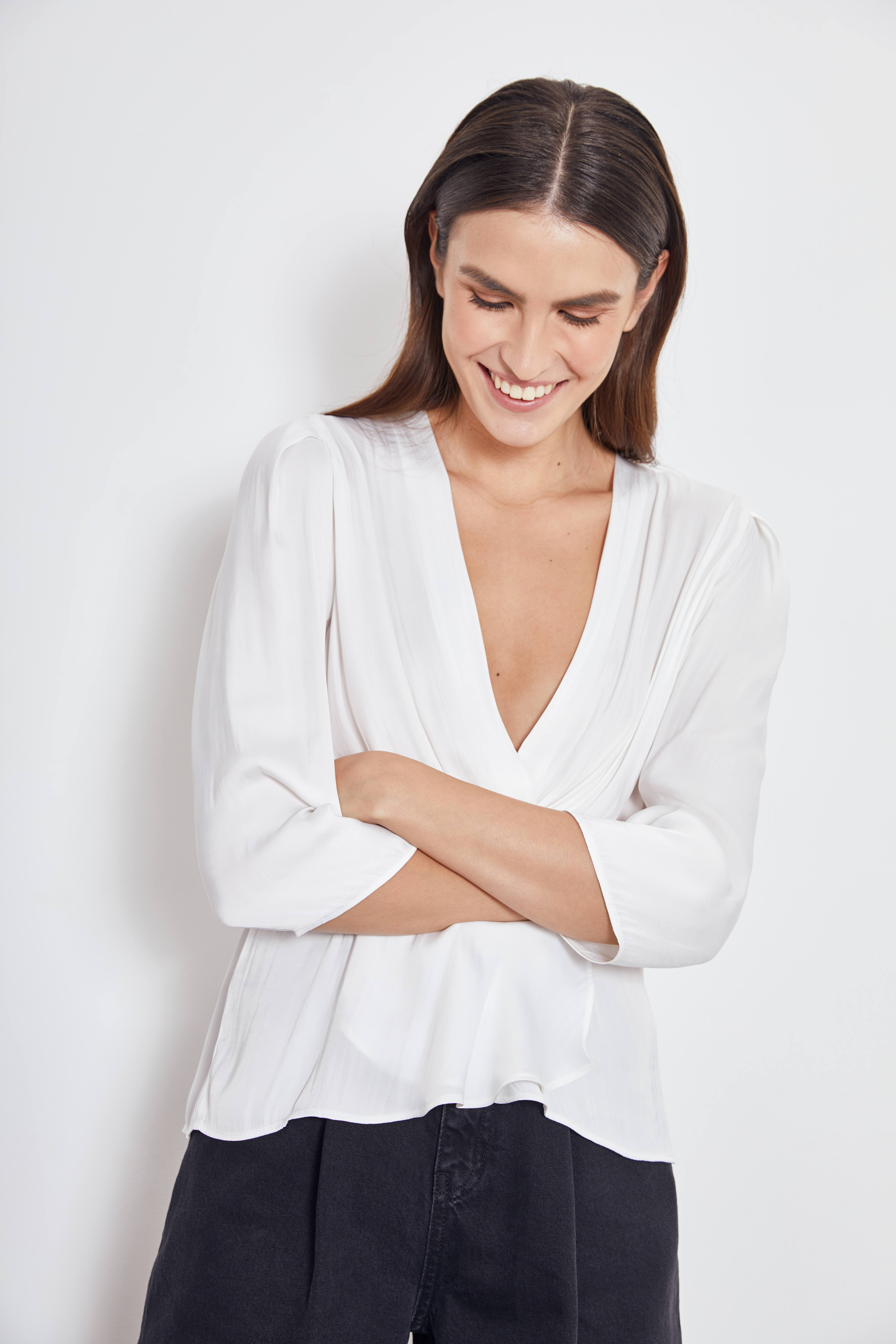 Блузка LIME Блузка с запáхом блузка francesca lucini блузка