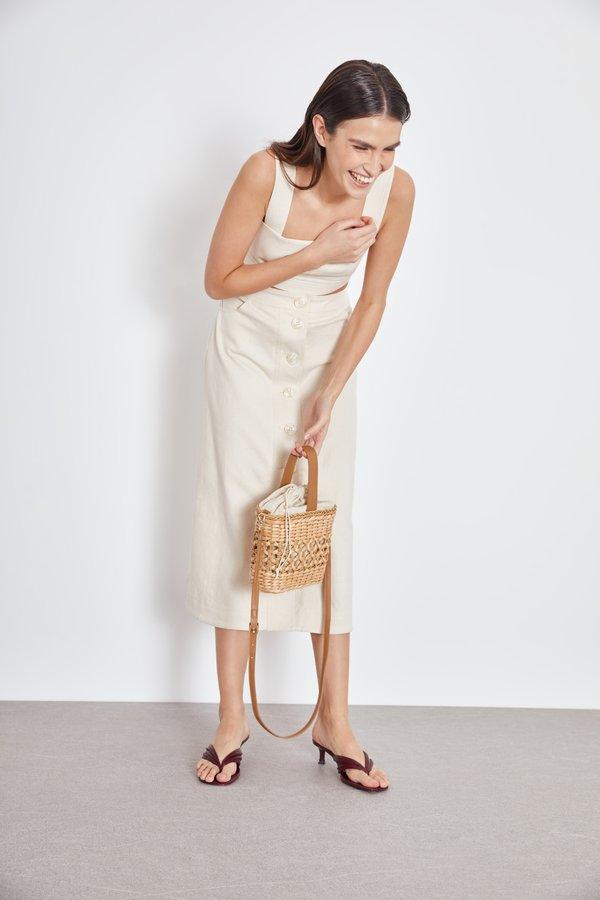 Плетеная сумка вид сзади