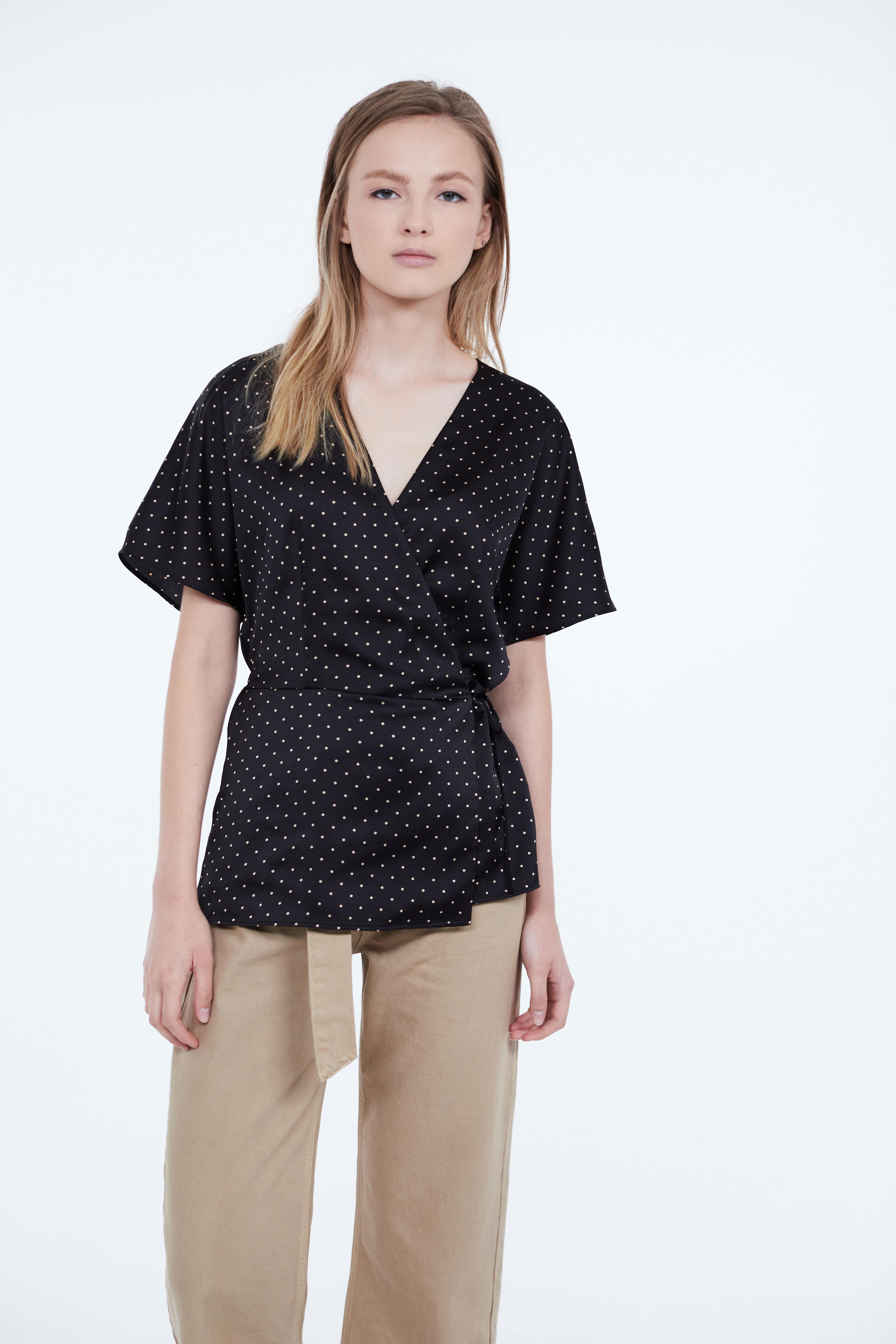 Блузка LIME Блузка на запах блузка lime