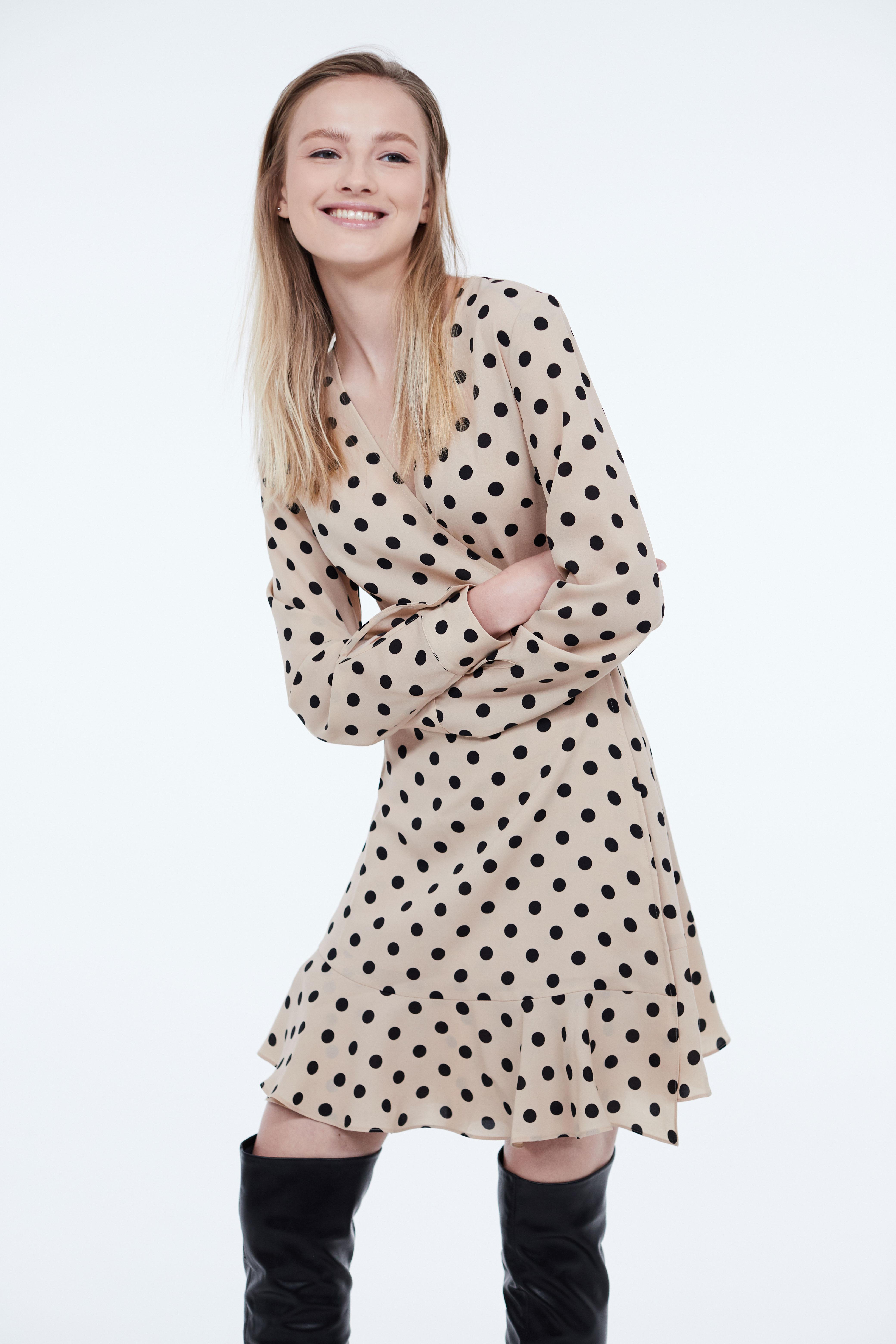 Платье LIME Платье с запахом и воланами платье длинное с запахом с рисунком coming