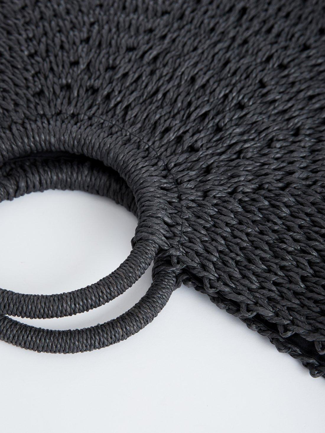 Плетеная сумка-шопер