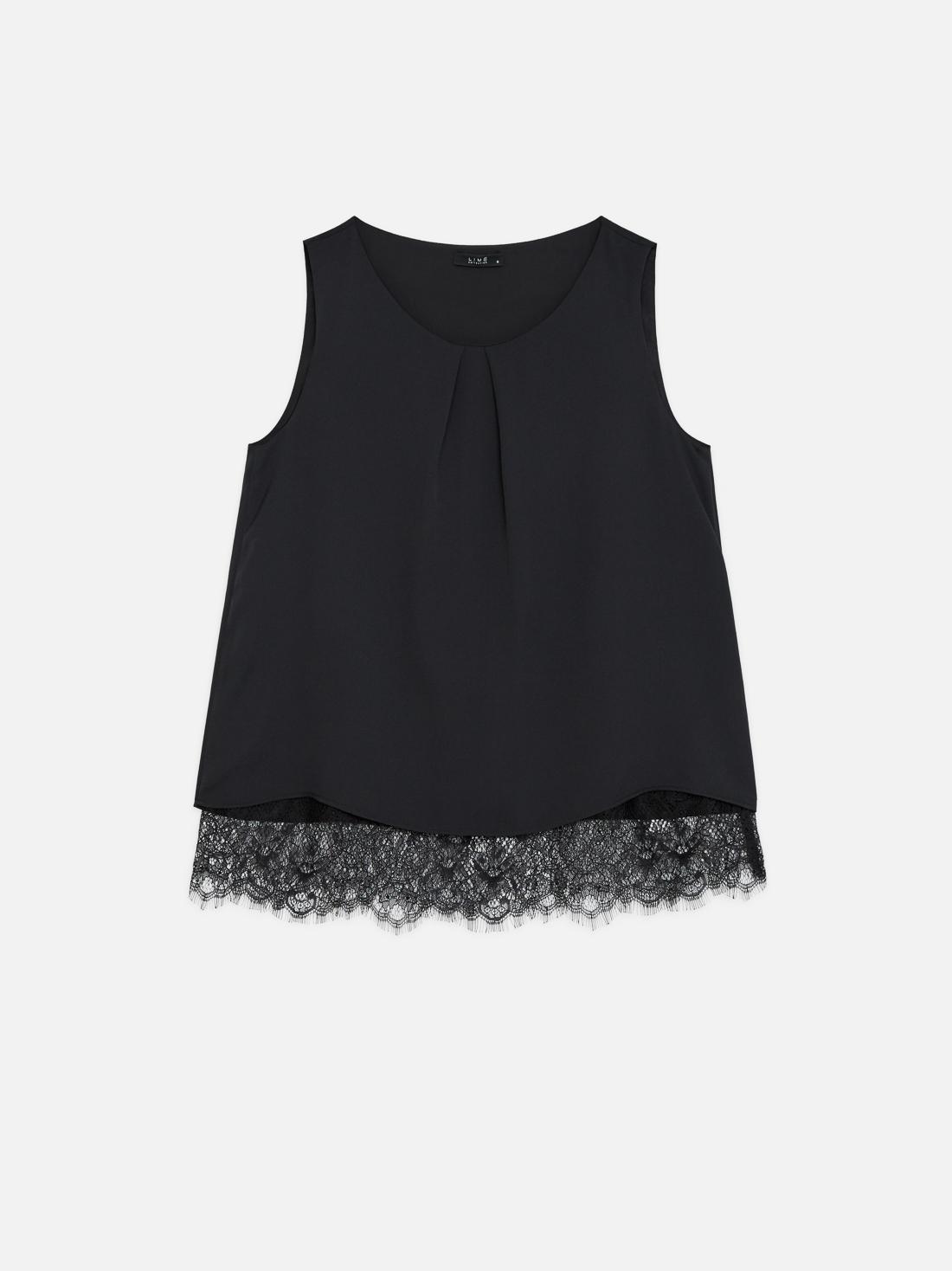 Блузка с кружевным низом