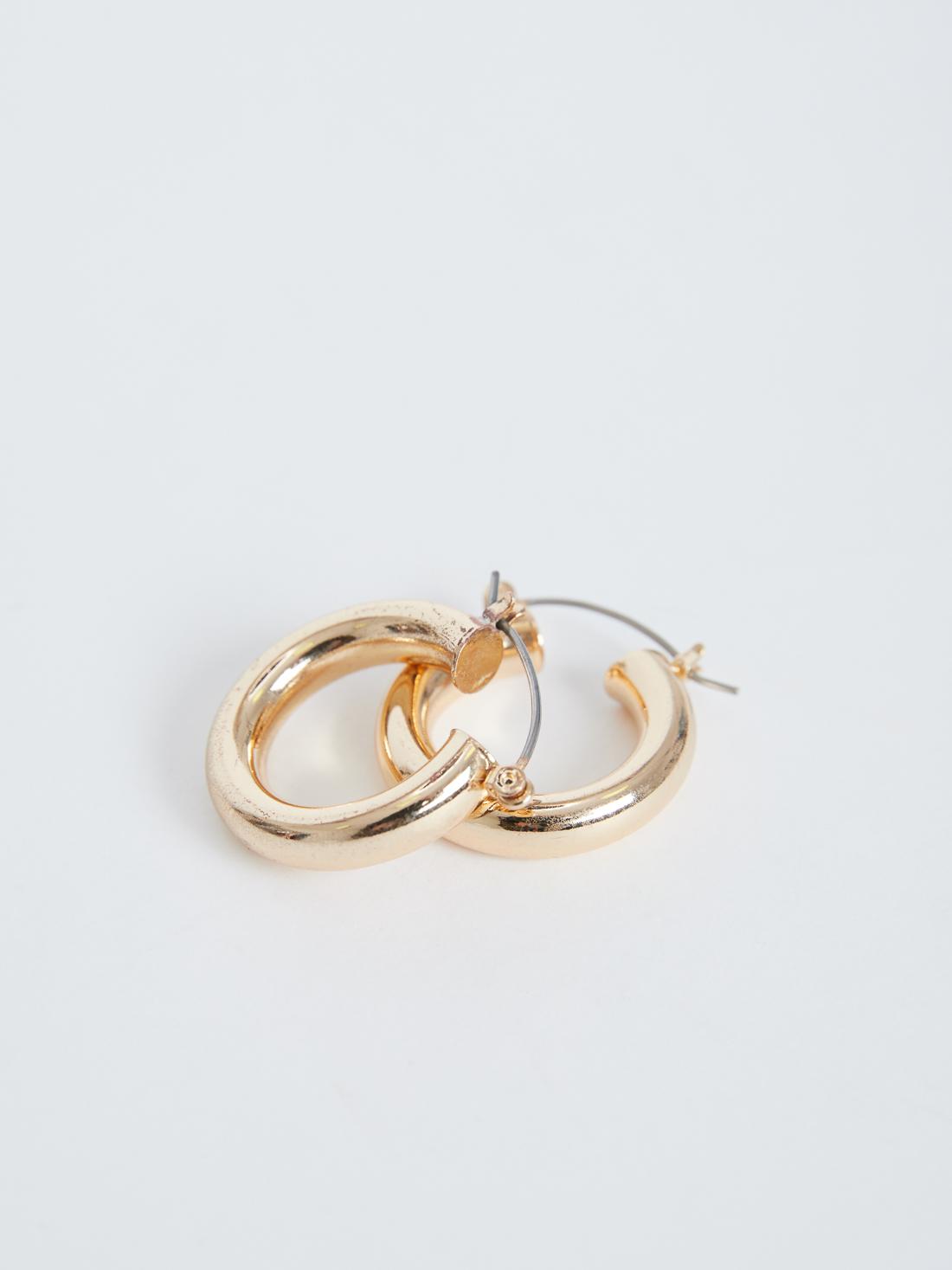 Широкие серьги-кольца