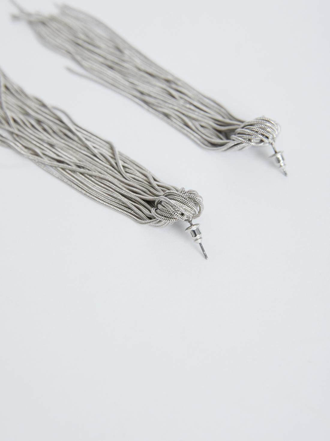 Серьги-подвески с цепочками