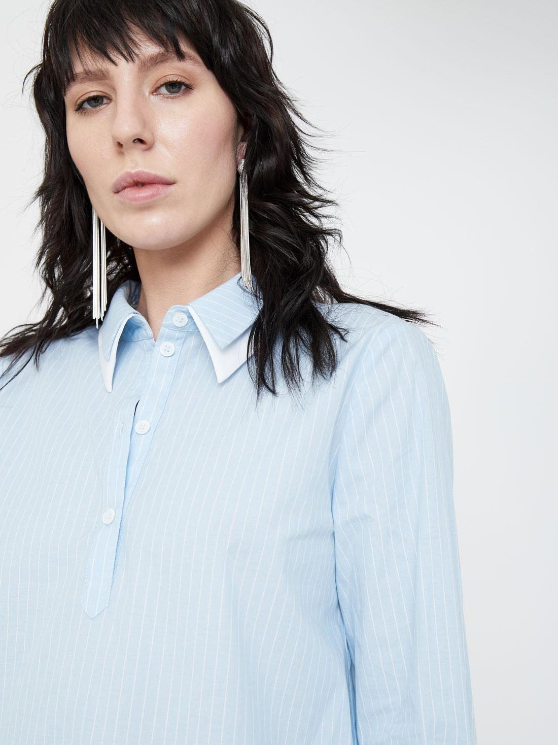 Блузка с двойным отложным воротником