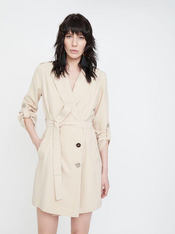 Платье с боковыми разрезами цвет: светло-бежевый