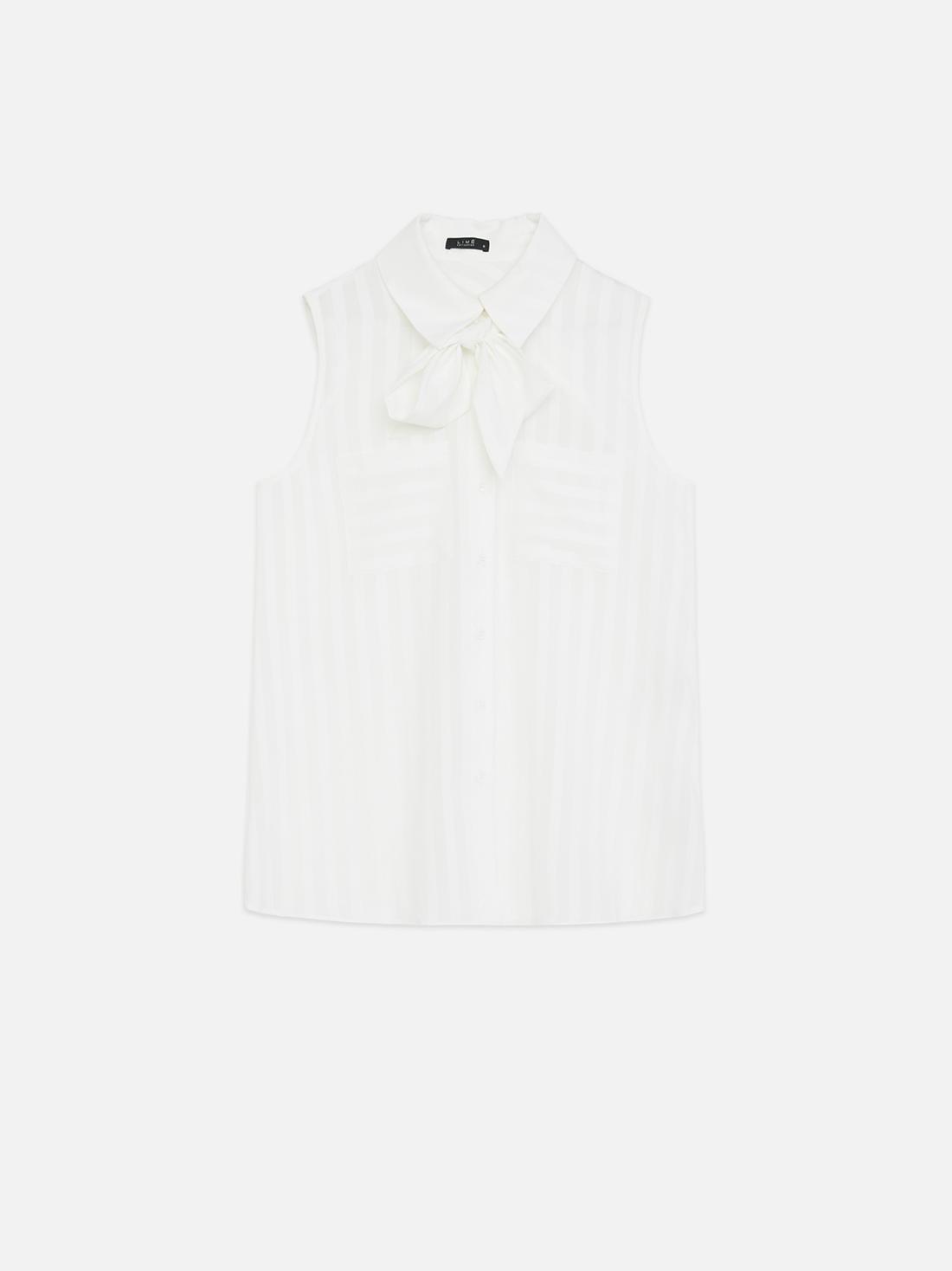 Рубашка со съемным бантом