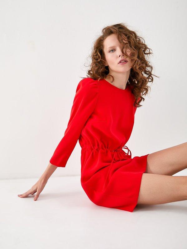 Платье с кулиской цвет: красный