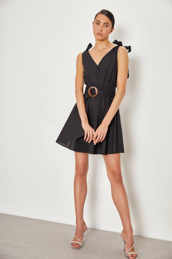 Платье на бретелях цвет: черный