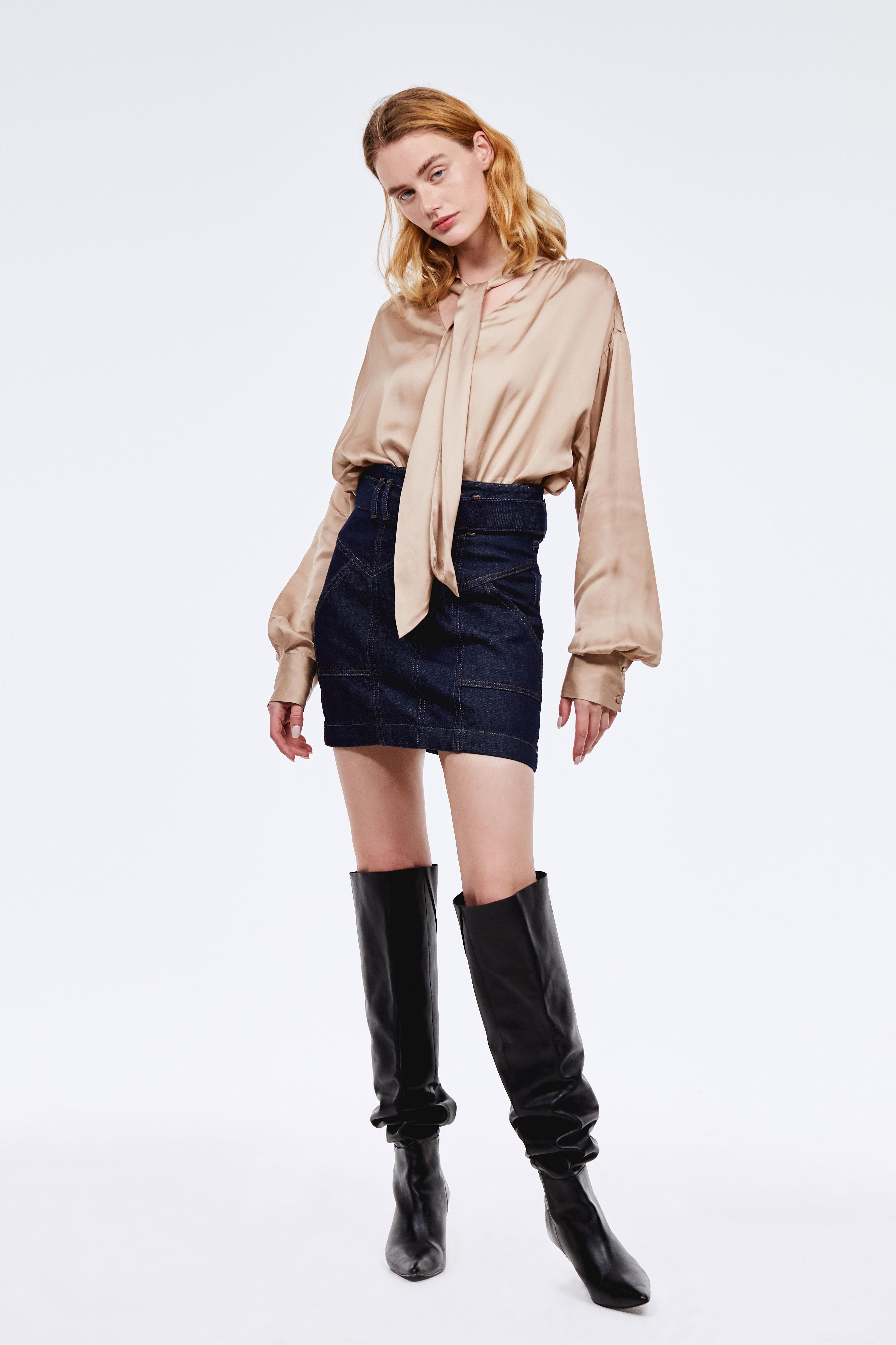 Фото - Юбка LIME Юбка с завышенной талией юбка из полиамида