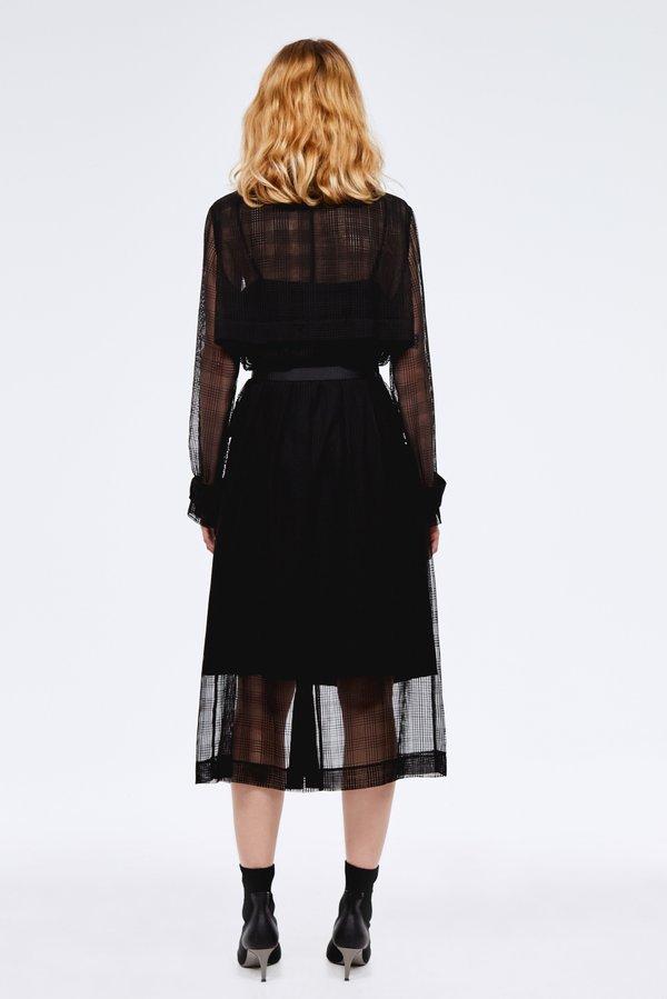 Платье-сетка с подкладкой вид сзади
