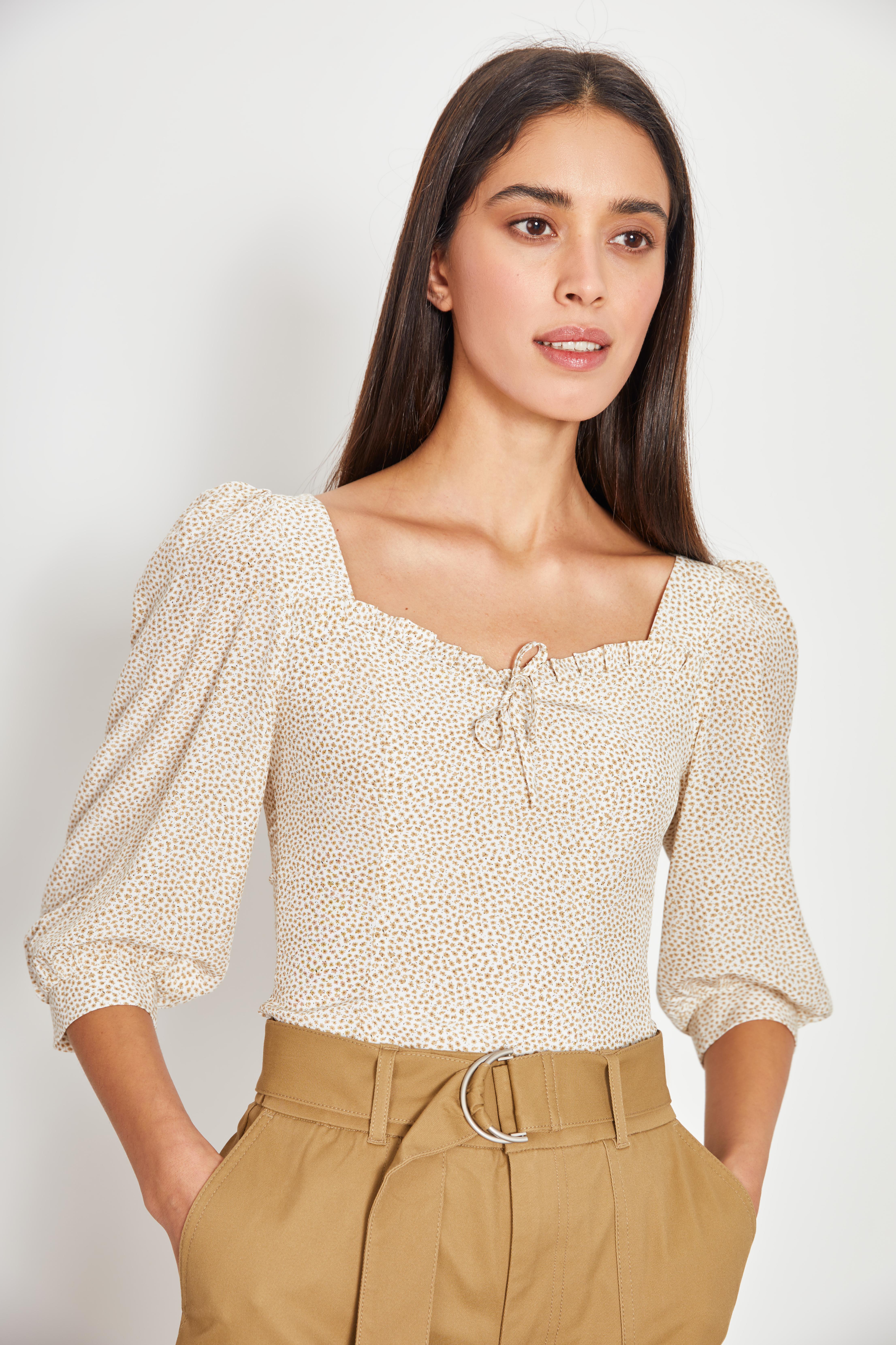 Блузка LIME Блуза с цветочным принтом цена 2017