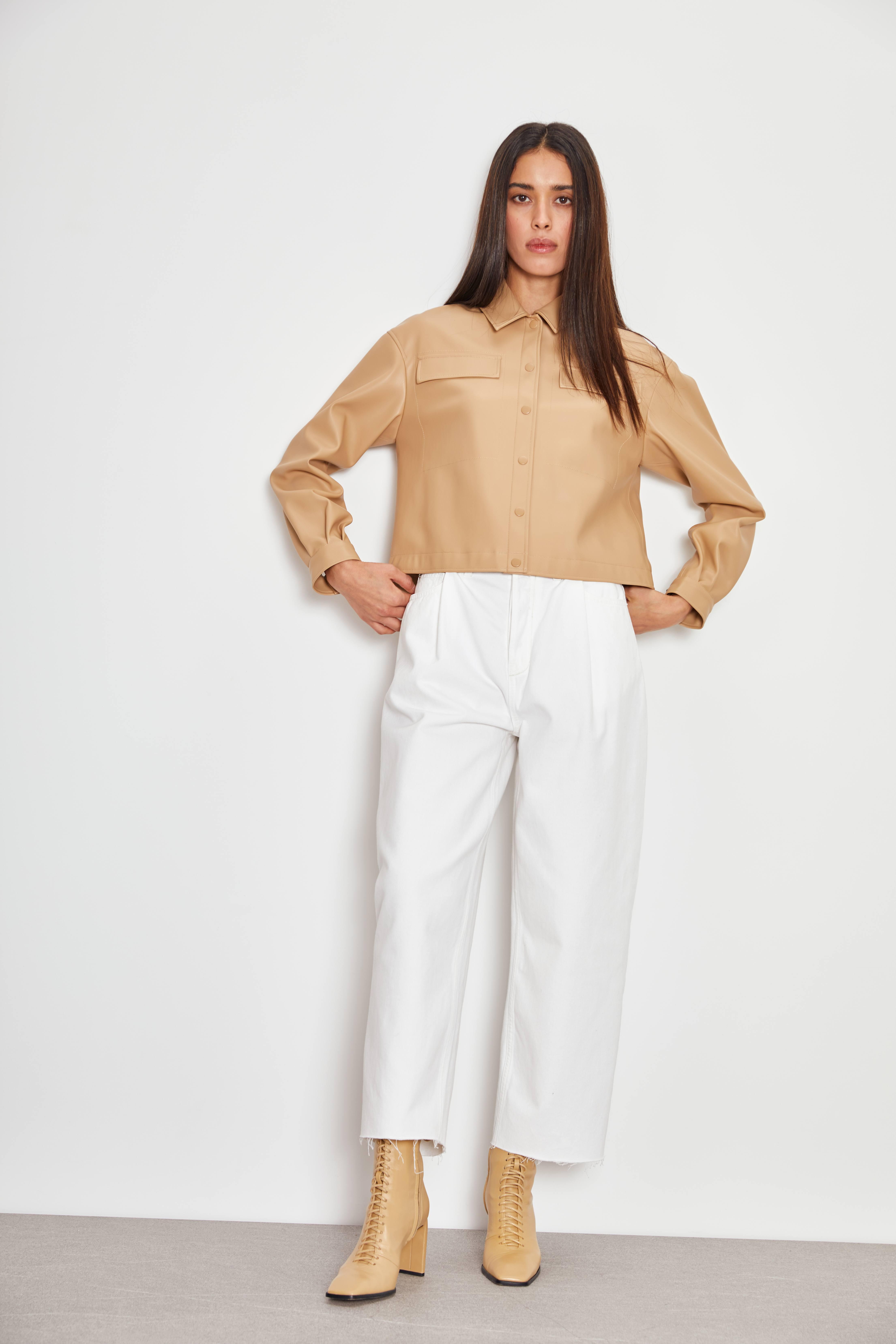 Блузка LIME Блузка из искусственной кожи nimbu блузка