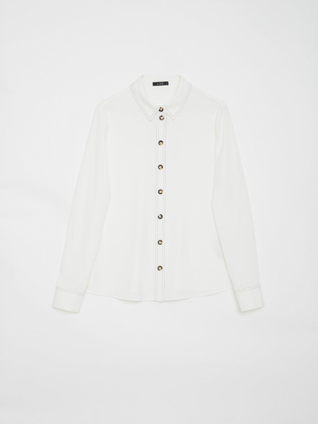 Рубашка с контрастными пуговицами