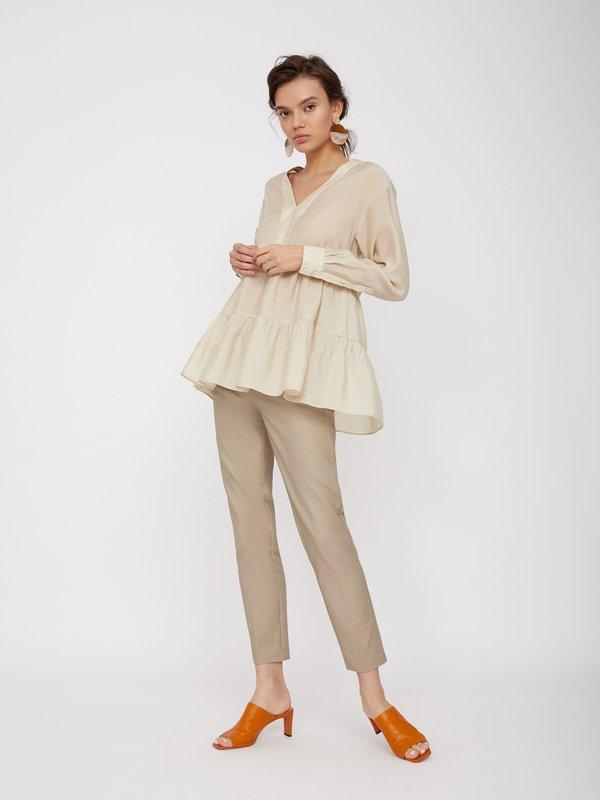 Укороченные брюки цвет: светлый хаки