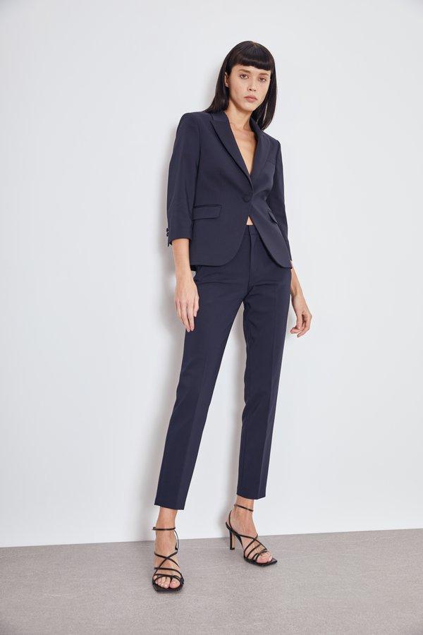 Классические брюки со стрелками цвет: темно-синий