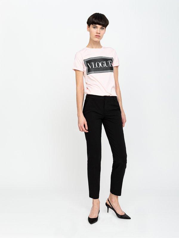 Классические брюки со стрелками цвет: черный