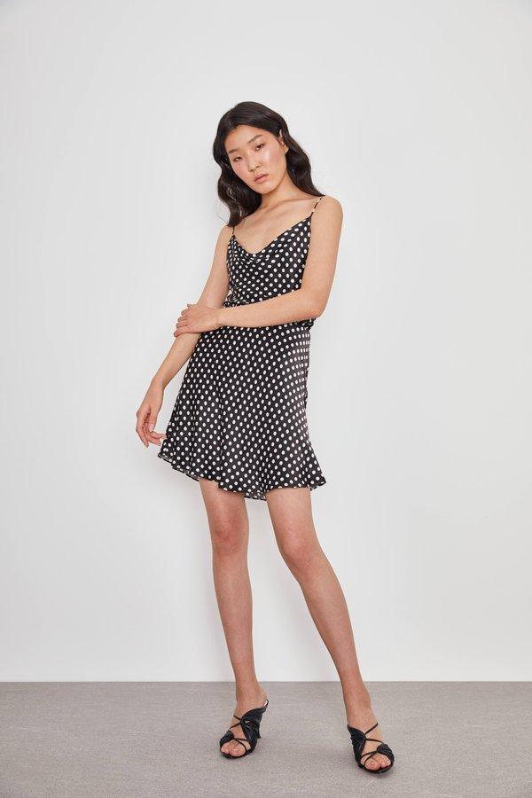 Мини-юбка из вискозы цвет: черный