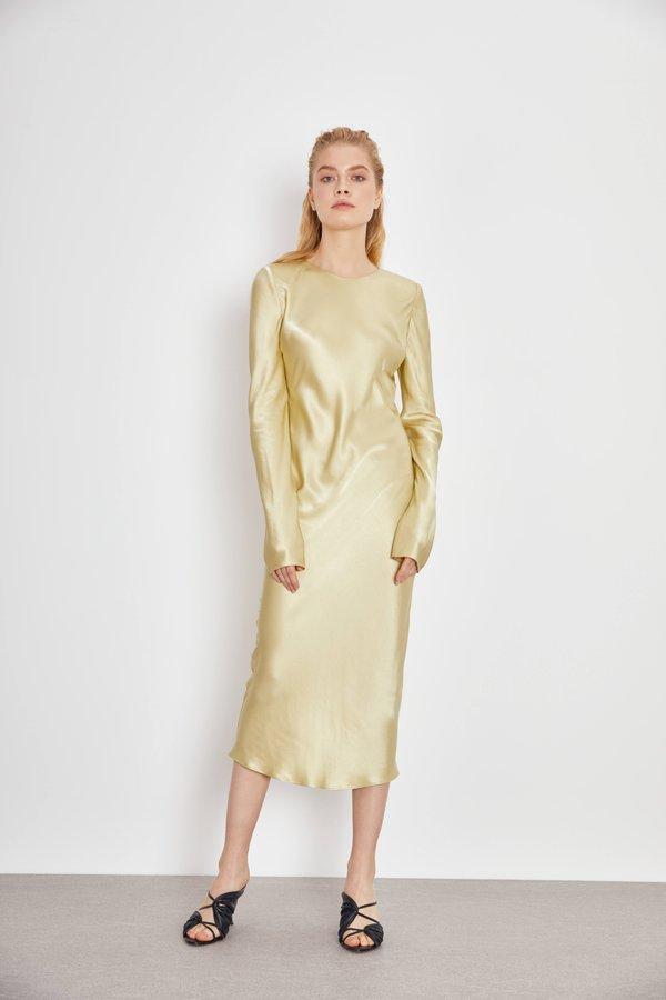 Платье из гладкой ткани