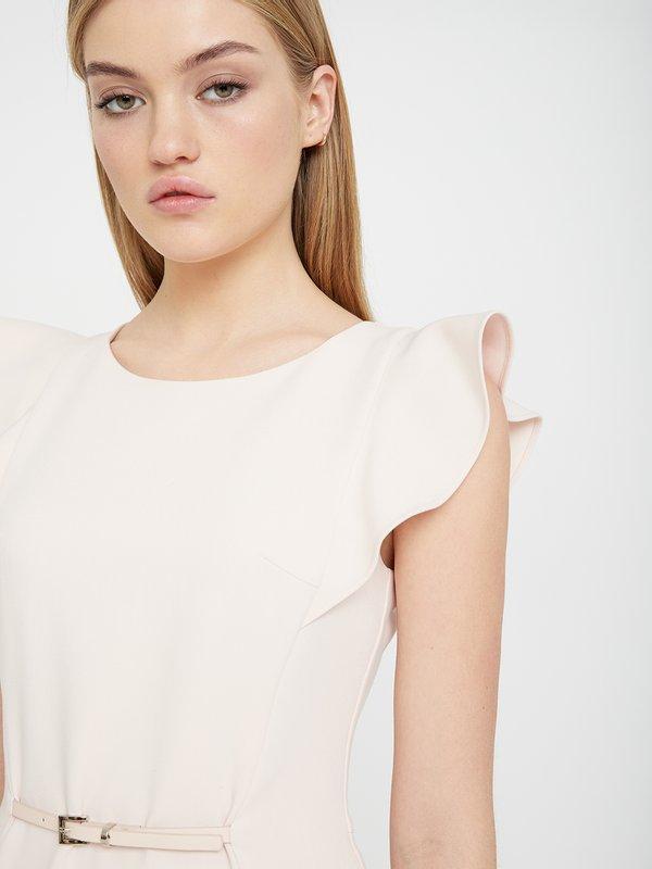 Платье с рукавом-крылышко цвет: пудра