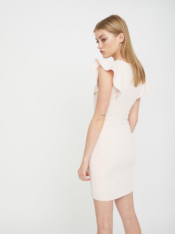 Платье с рукавом-крылышко вид сзади