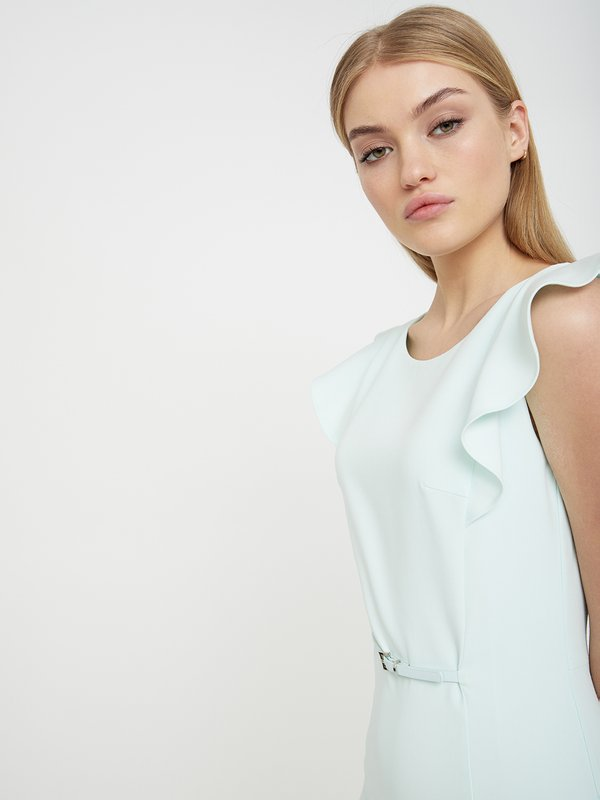 Платье с рукавом-крылышко цвет: минт