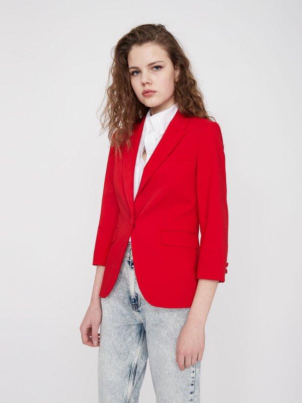 Жакет с укороченным рукавом  цвет: ярко-красный