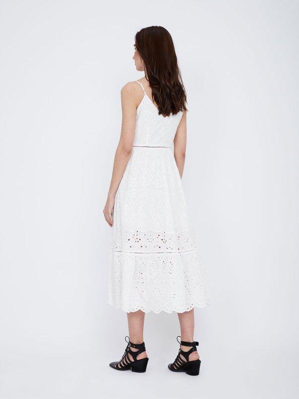 Платье с перфорацией из хлопка вид сзади