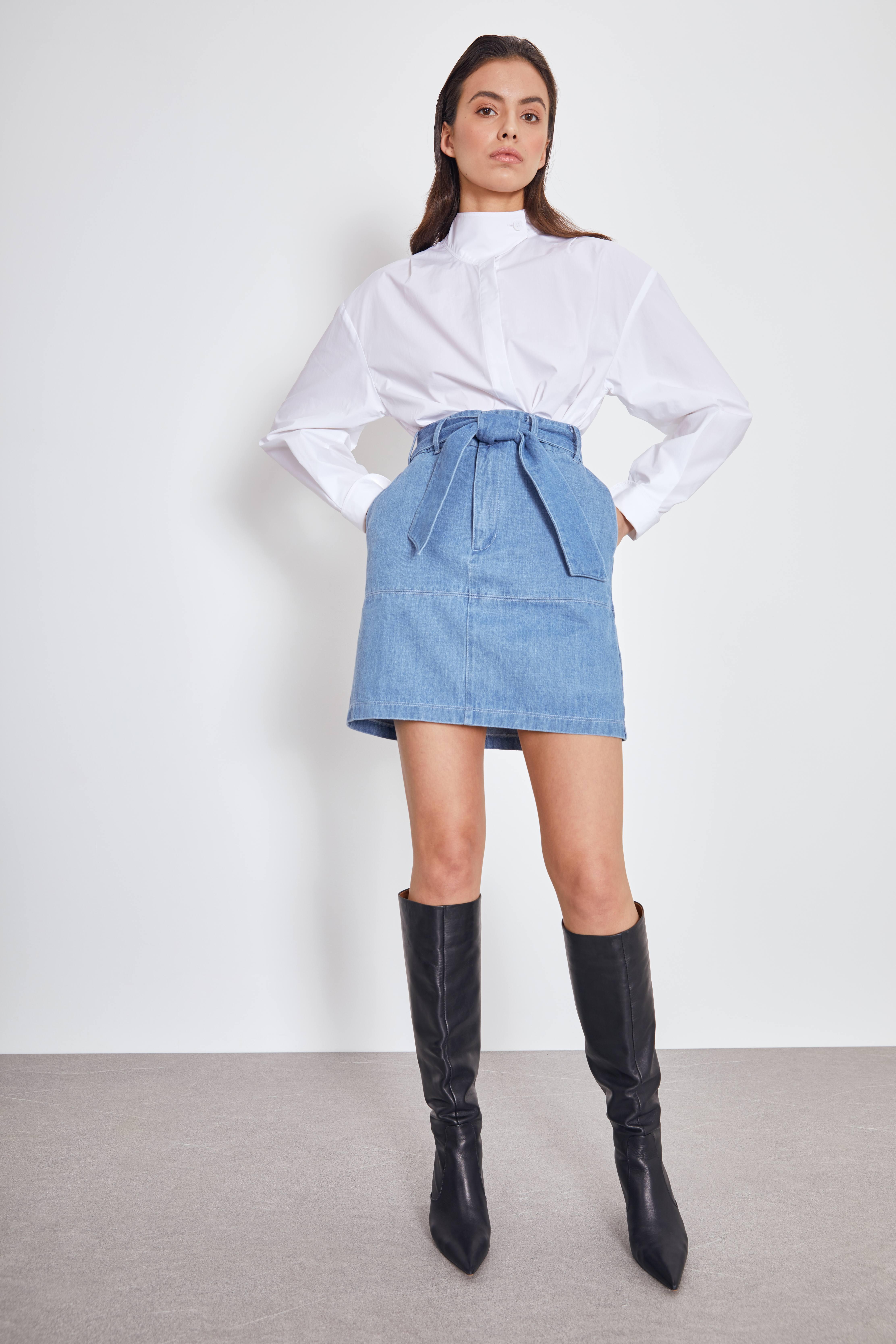 Юбка LIME Джинсовая юбка юбка moodo юбка