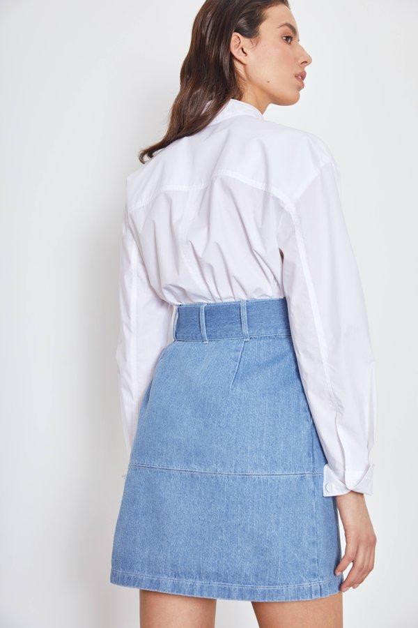 Джинсовая юбка вид сзади