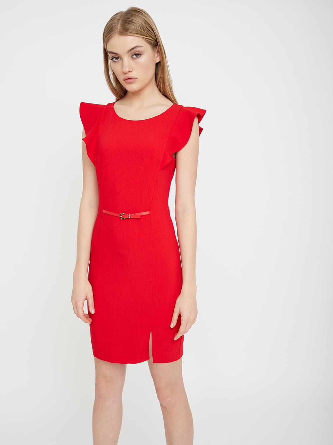 Платье с рукавом-крылышко