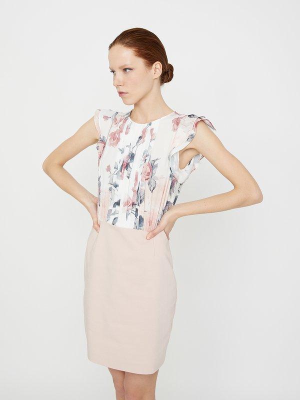 Платье с разрезом на спине цвет: пудра