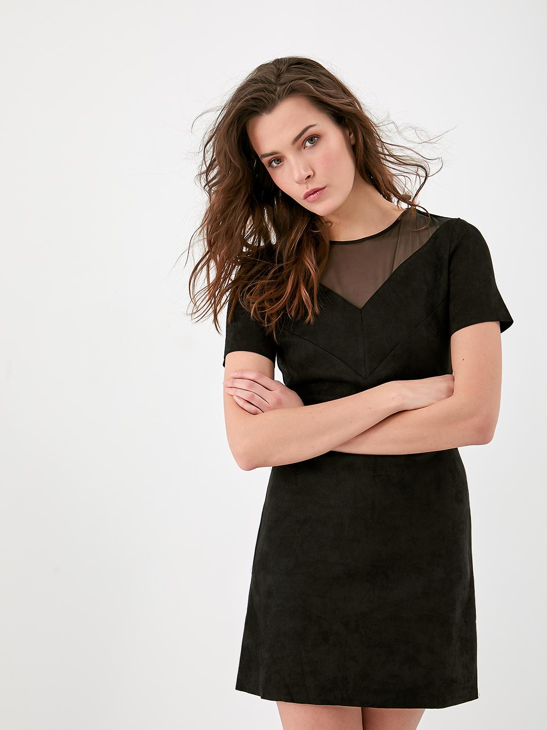 Платье - футляр из замши