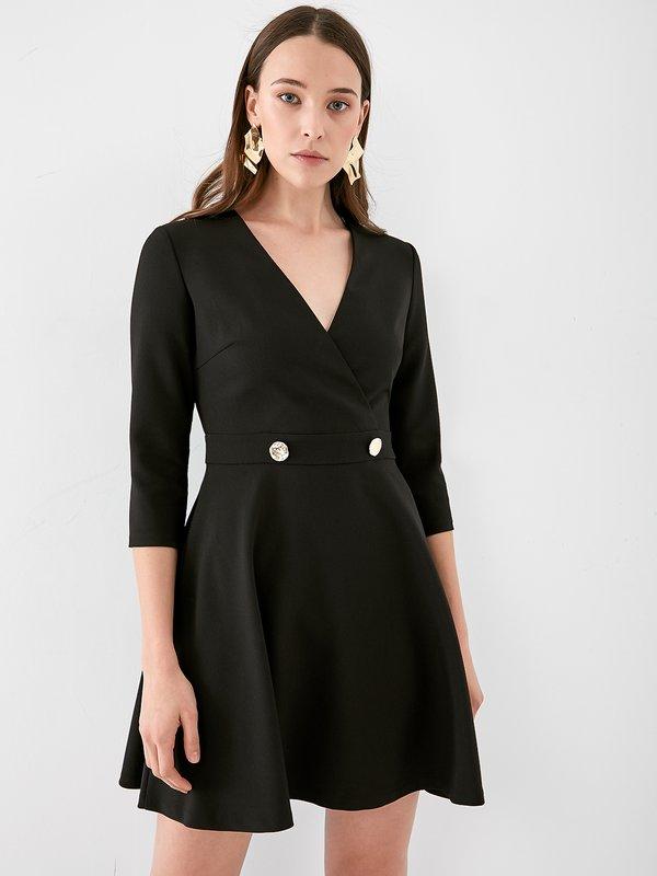 Платье с лифон на запах