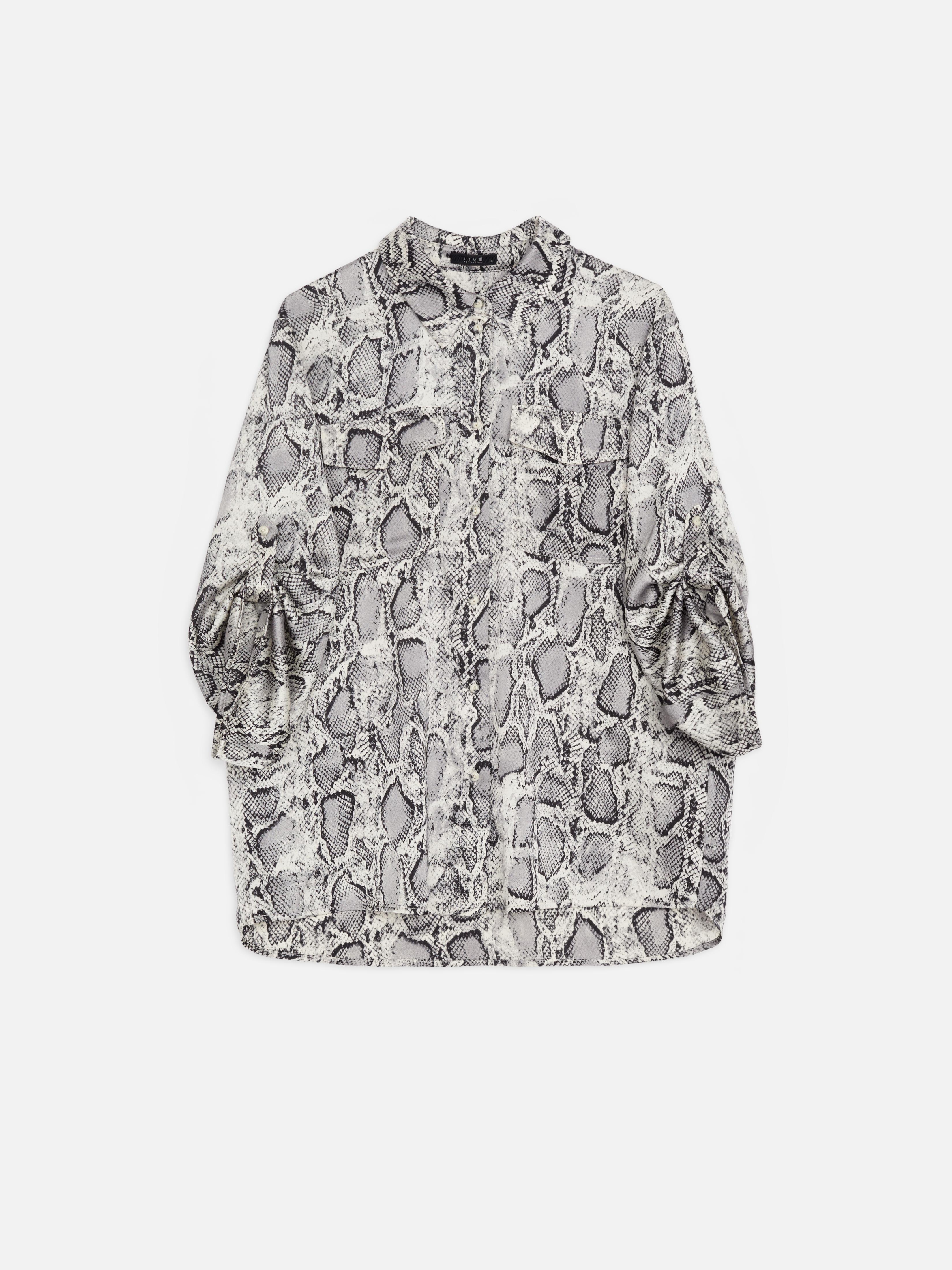 Рубашка с анималистическим принтом