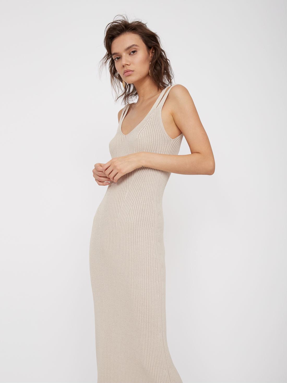 Платье-миди на двойных бретелях