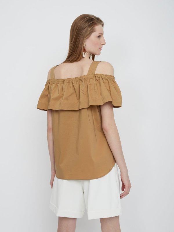 Блузка с открытыми плечами вид сзади