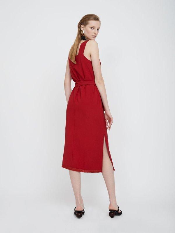 Платье-миди с бахромой вид сзади