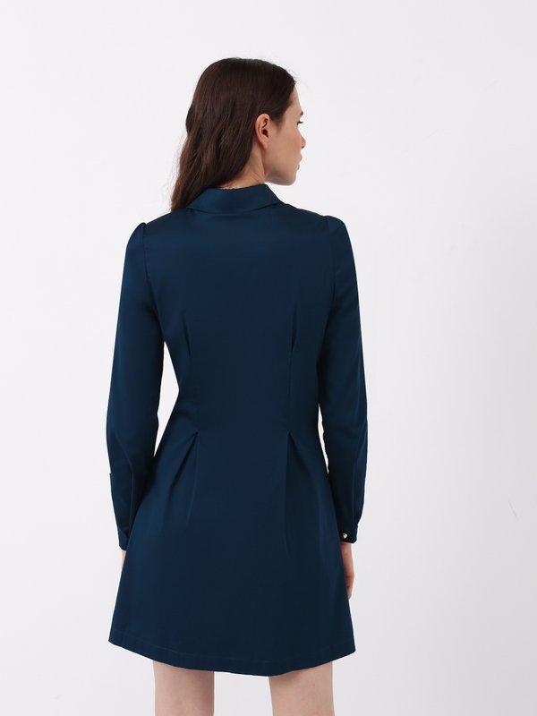 Платье - рубашка вид сзади